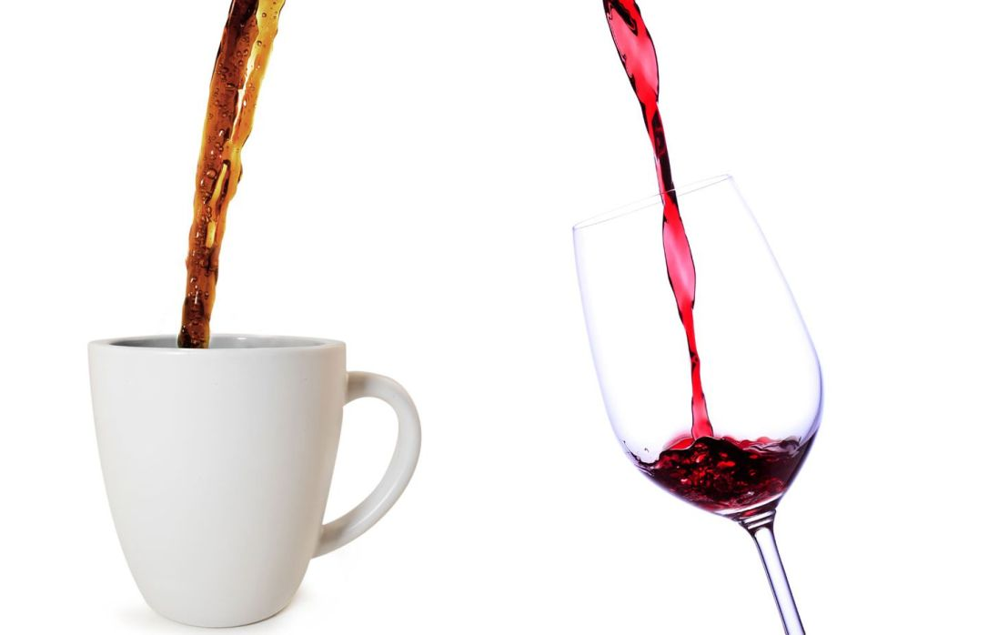 Coffee or wine pouring
