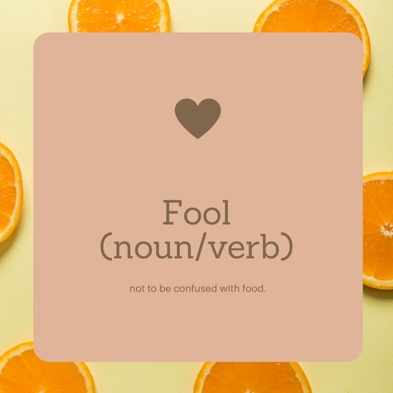 Fool not Food Graphic